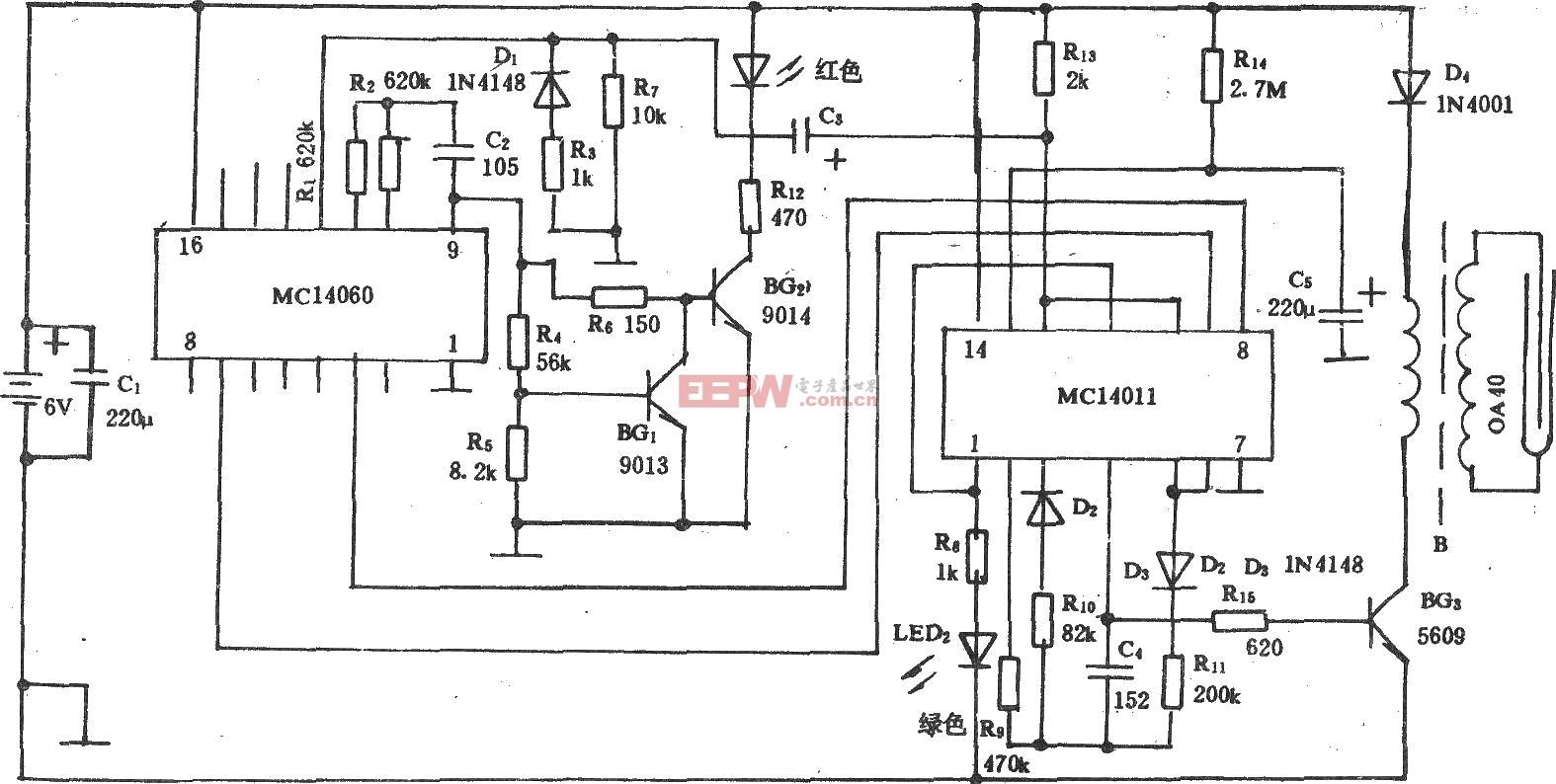 全自动除臭保鲜器HH92-BCD(A)电路图