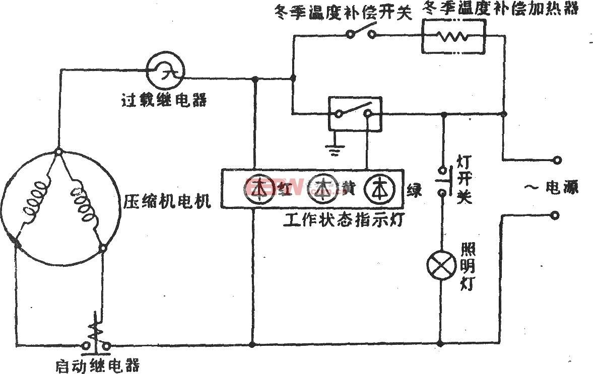华意-阿里斯顿BCD-202冰箱电路