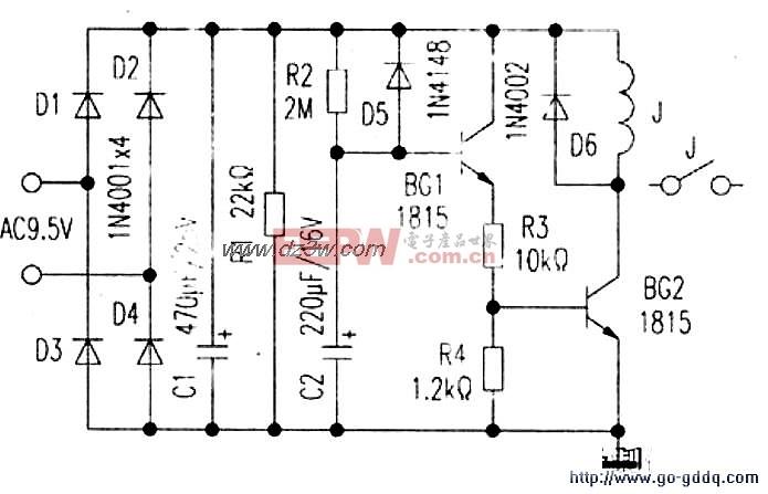 50胆机的高压延时电路图 -综合电路图图片
