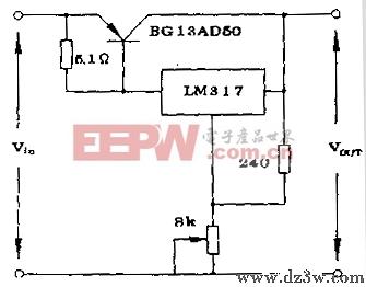三端稳压器 LM7805,LM317等 扩流电路图图片