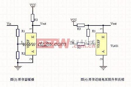 TL431组成的鉴幅器电路及升压反相电路图图片