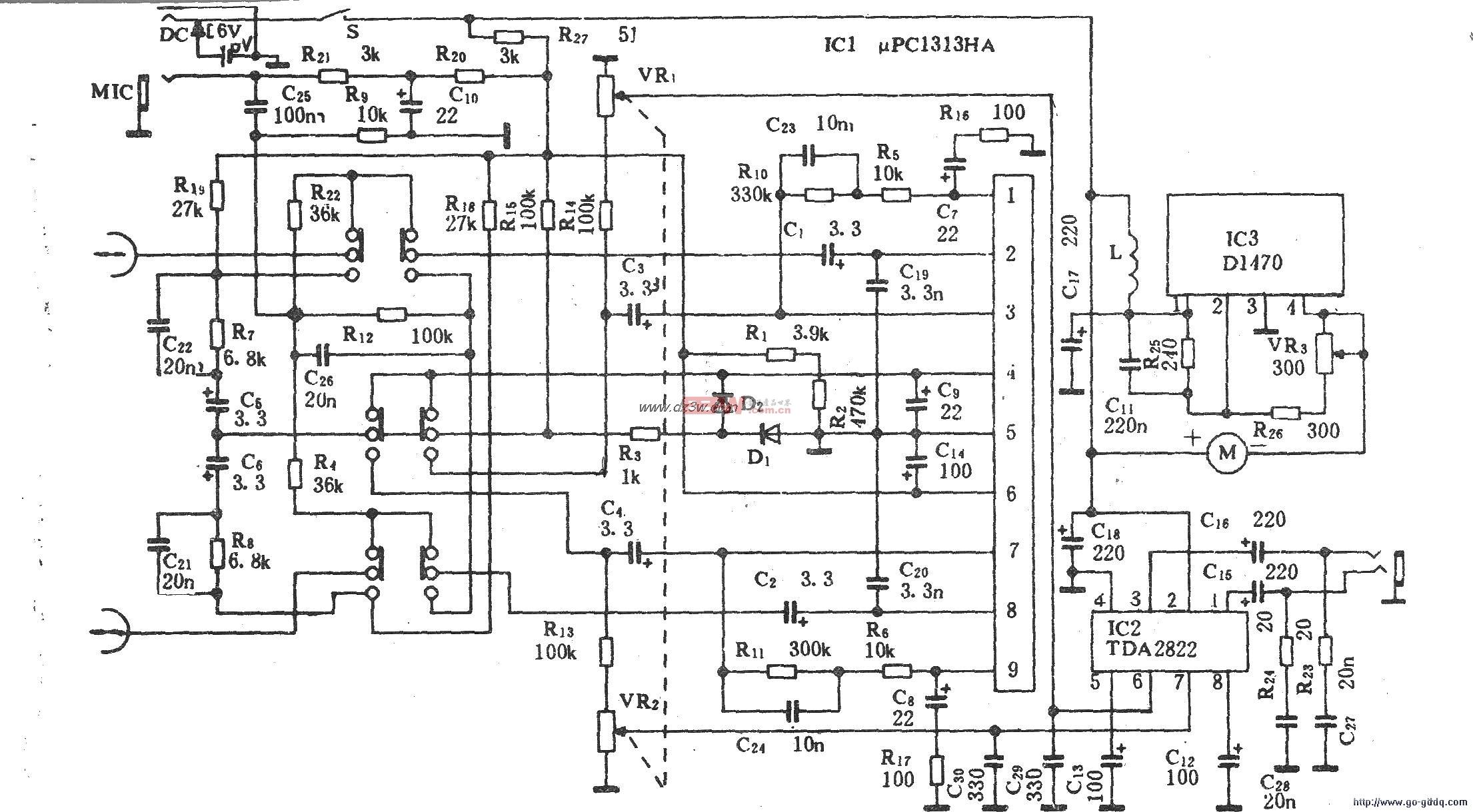 WL-210A型卡拉OK袖珍录放机电路图解