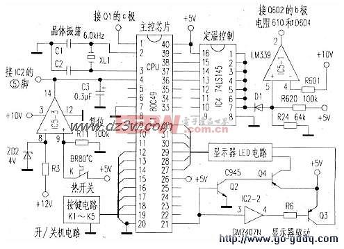 格力GC-16型电磁炉主控芯片(CPU)电路图