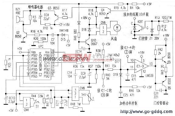 美的MC SYl83B电磁炉过热保护电路图图片