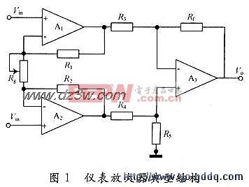 仪表放大器电路设计图