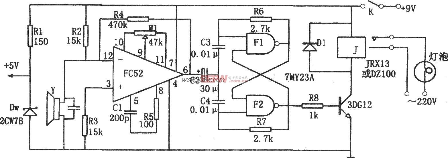 电路 电灯 声控 fc52/声控电灯(FC52)电路