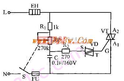 闸管组成的无级调压电路图片