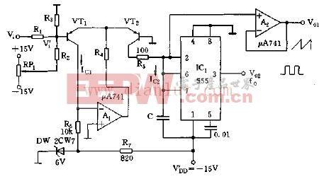 指数式压控振荡器电路图-指数式压控振荡器电路