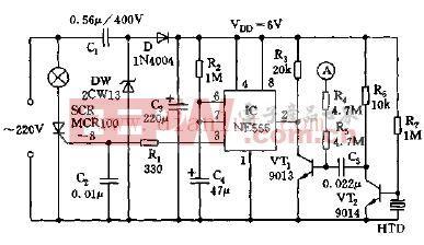声控双功能延时灯电路图-触摸 声控双功能延时灯电路图片