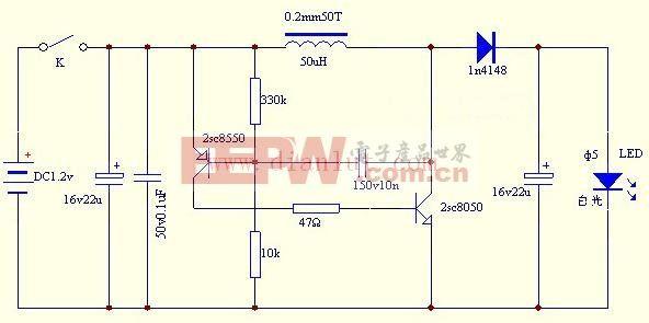 此6v转12v电路是一个简单的电路图