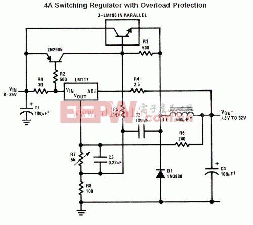 仅用五个元件的正负对称双电源电路