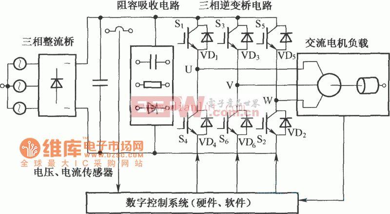 电压源三相逆变器结构电路