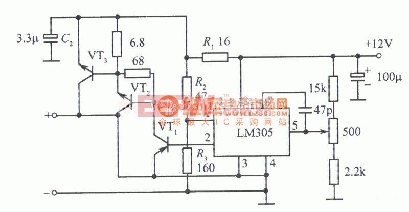 M305构成的12V 10A稳压电源电路图片
