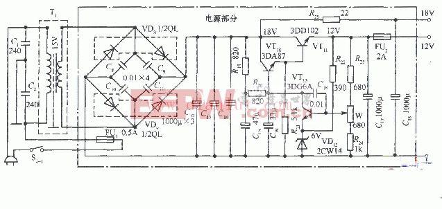 超级耐用的12V 18V双路稳压电源电路图片