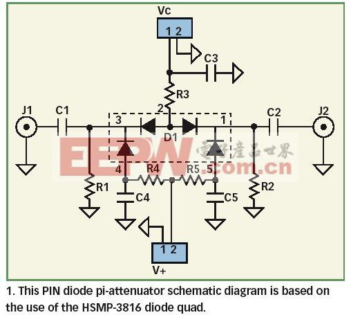 分析有线电视和通讯应用的PIN二极管衰减器的结构