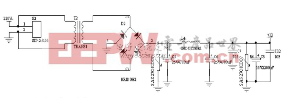 220V交流电变压直流12V