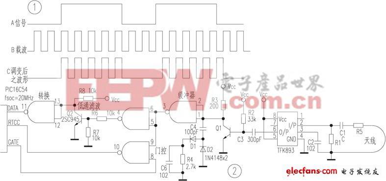 PIC16C54单片机制作简易AM频率计
