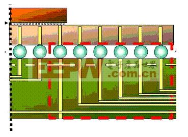 PCB 的引出过孔区域