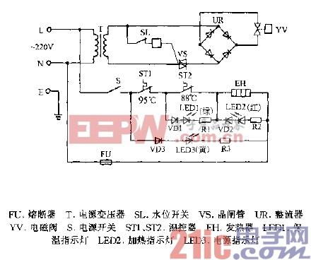 总馨MUL-YT1-10,MUL-YL1-10封闭式全自动温热饮水机电路图