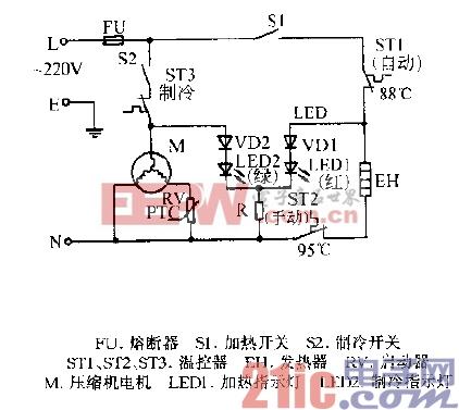 美的YLRT3-6C,YLRT3-6B冷热饮水机电路图.gif