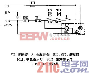 康博KD-BT1,KD-B,KD-2BT,KD-2B1,KD-6BT温热饮水机电路图