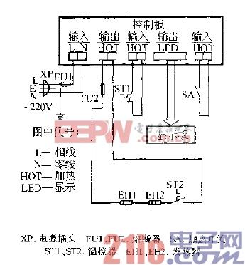 上航YDRLH-Ⅰ型温热饮水机电路图.gif