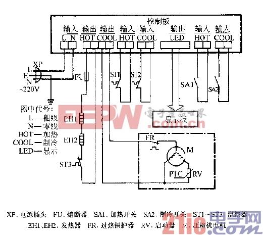 上航YBRH-Ⅰ型冷热饮水机电路图.gif