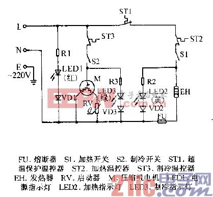 加林HC-12,HC-15冷热饮水机电路图.gif