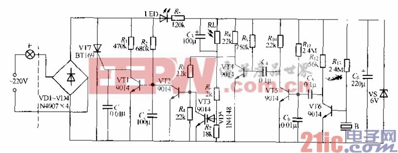 157.分立元件声光控楼梯延迟开关电路(7).gif