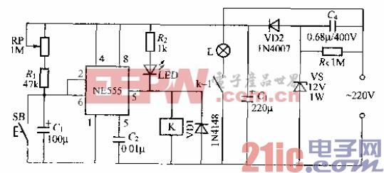 74.采用时基电路的延迟灯电路(1).gif