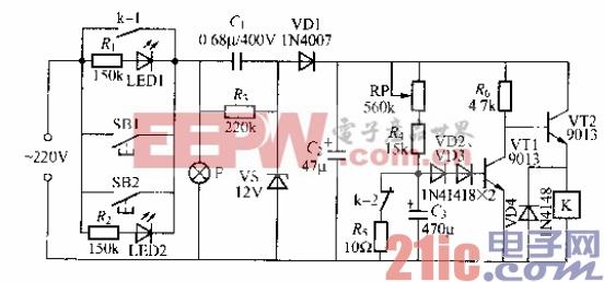 71.使用继电器的延迟灯电路(5).gif