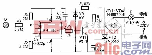 104.单键触摸式灯开关电路(2).gif