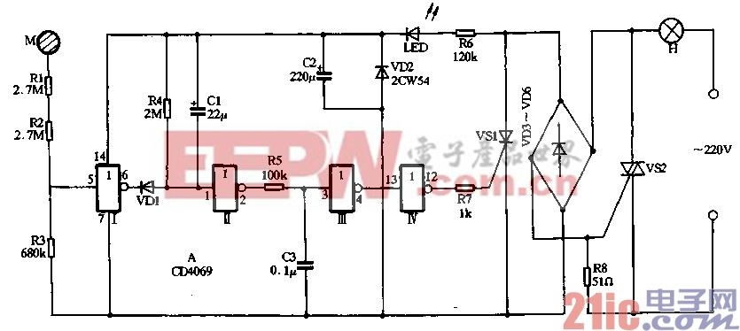 27.用CD4069制作触摸式延迟节电灯.gif