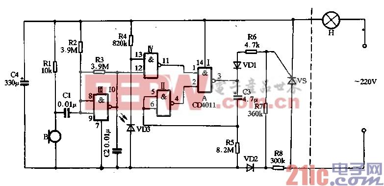 18.用CD4011制作声光双控延迟电灯(2).gif