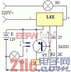 使用LES制作的停电应急照明灯电路图.jpg