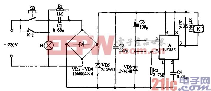 5.用NE555制作按键式延迟节电灯(1).gif