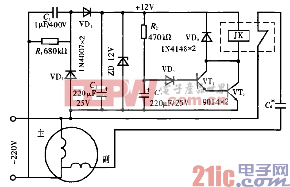 46.单相电动机离心开关的改进电路.gif