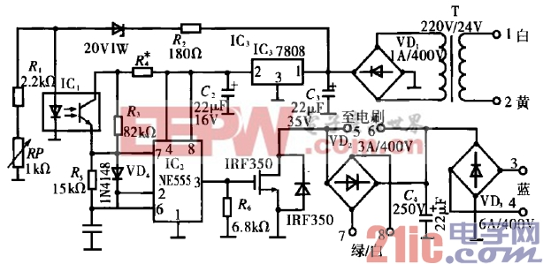45.汽油发电机励磁模块代换电路.gif