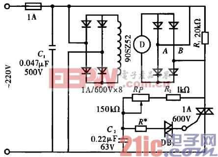 42.直流电动机简易调速电路.gif