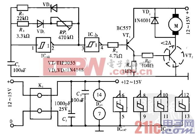 39.小型直流电动机控制电路(一).gif