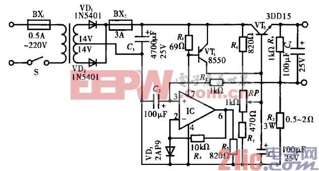 微型电钻电动机自动调速电路图片