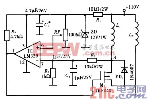 27.并激电动机的简易调速电路.gif
