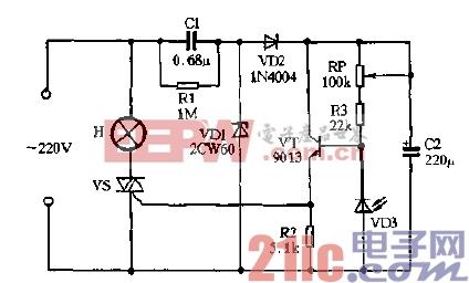 左右/VDI、VD2、Cl与C2组成简单的电容降压半被整流电源,通电后C2...