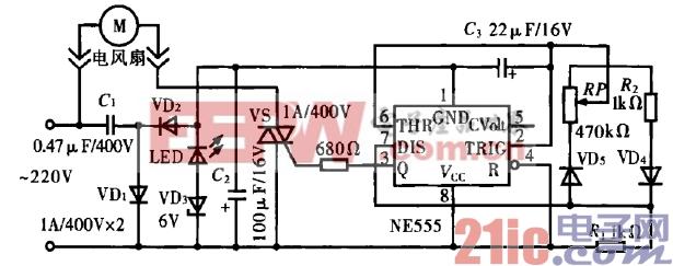 37.自然风电扇无极调速器电路.gif