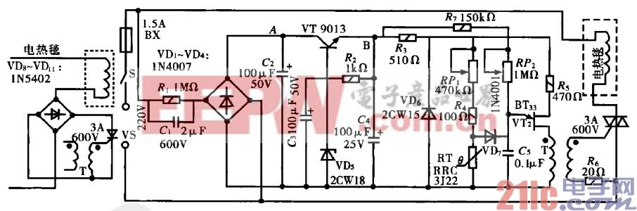 36.电热毯加装可调恒温控制电路.gif