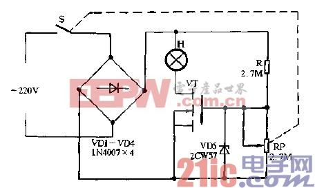 16.采用V-MOS场效应管的无级调光器.gif