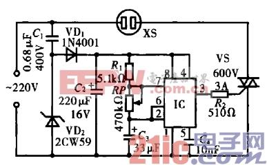 电风扇自然模拟器电路