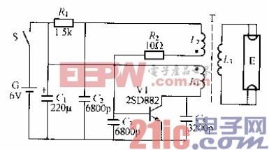 285.电池供电荧光灯电路(1).gif