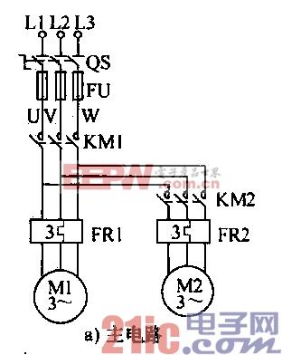 16.电动机顺序起动单独停止控制电路a.gif