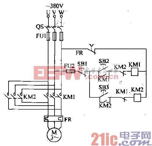 两台电动机延时控制电路 -控制图片